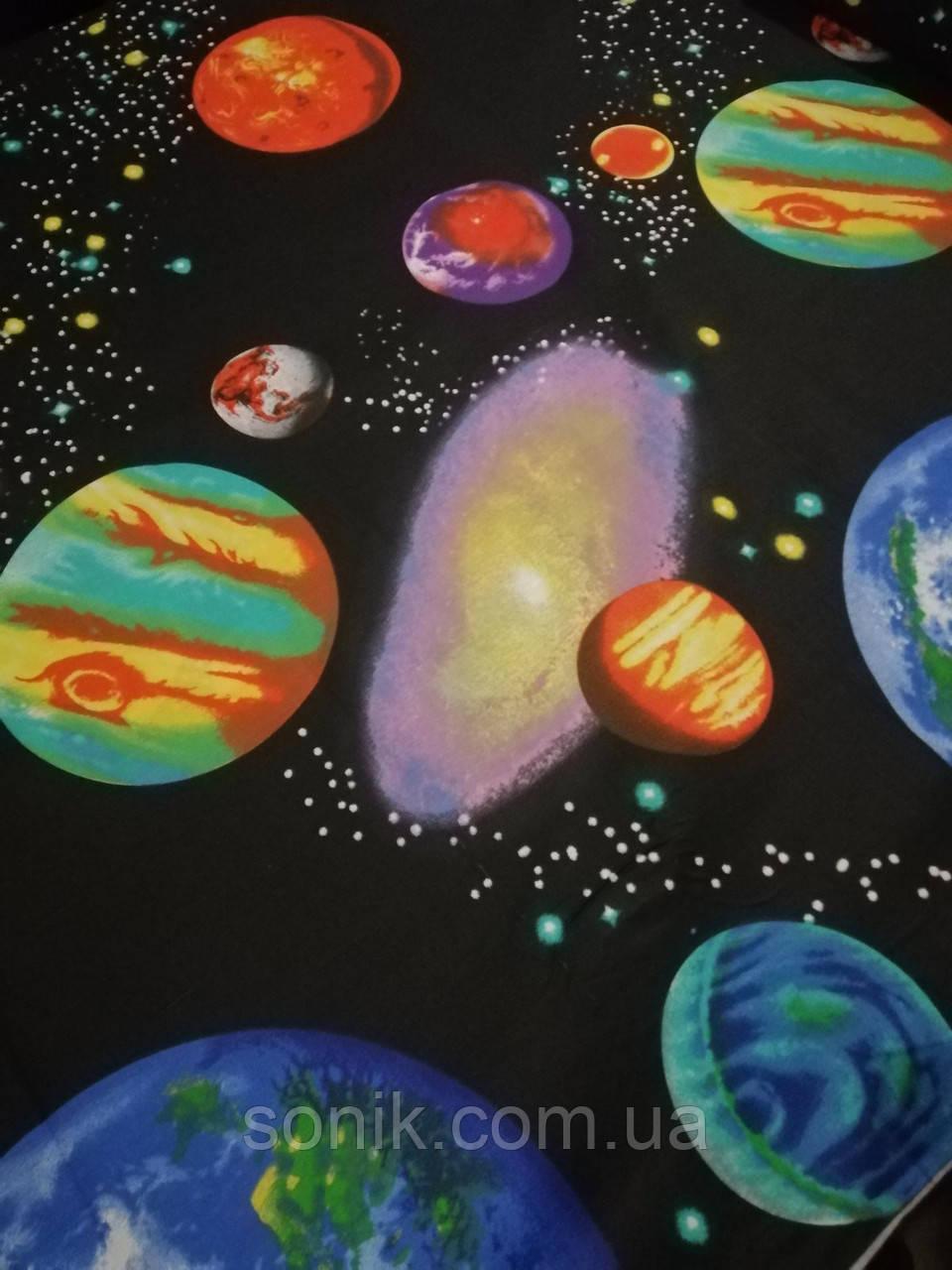 Бязь Gold Планети 220 см   Отрез 1.25м 0.6м 1.5м