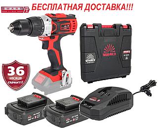 Дриль-шуруповерт акумуляторна 18В, комплект, Латвія Vitals Master AU 1835Pb/ак