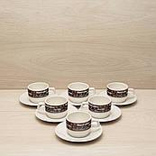 """Кавовий набір """"MacCoffee"""" 6 чашок + 6 блюдець"""