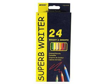 Цветные карандаши набор 12шт\24цвета, двухсторонние тм. Марко№4110-12СВ (1 пач)