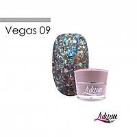 Lukum Vegas Gel № 09 - глиттерный гель, 5 мл