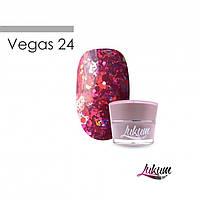 Lukum Vegas Gel № 24 - глиттерный гель, 5 мл