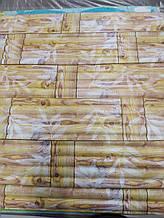 Панель стінова 3D Sticker Wall Wall Sticker самоклеюча 70х77 см бамбукова кладка жовта