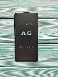 Захисне скло AG Matte Full Glue для Realme 6 Матове Чорне