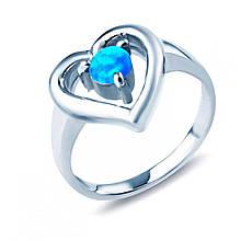 Серебряное кольцо с опалом, размер 16 (811211)