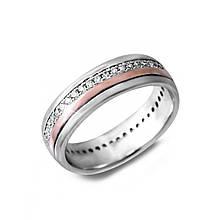 Серебряное кольцо с куб. циркониями, размер 15 (143011)