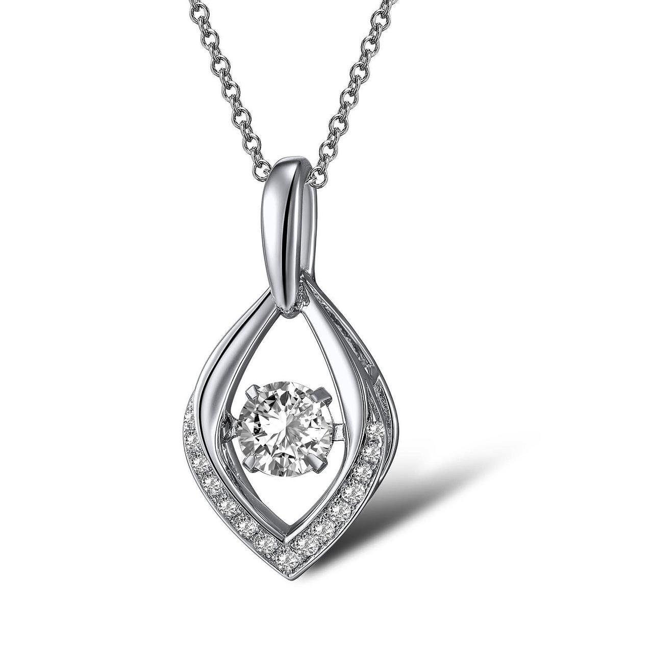Кулон из серебра с куб. циркониями (1719409)