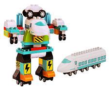 Конструктор JDLT 5351 «Поезд трансформер» 71 деталей