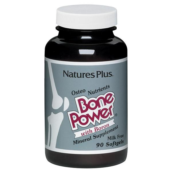 Кальций с Бором для Крепких Костей, Bone Power, Natures Plus, 90 желатиновых капсул