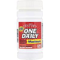 Комплекс мультивитаминов и минералов максимального действия, One Daily, 21st Century, 100 таблеток