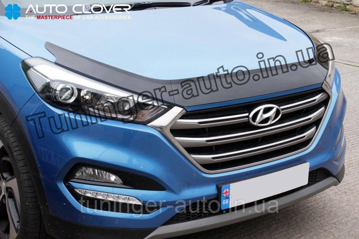 Дефлектор капота (мухобойка) Hyundai Tucson 2015- (Autoclover D595)