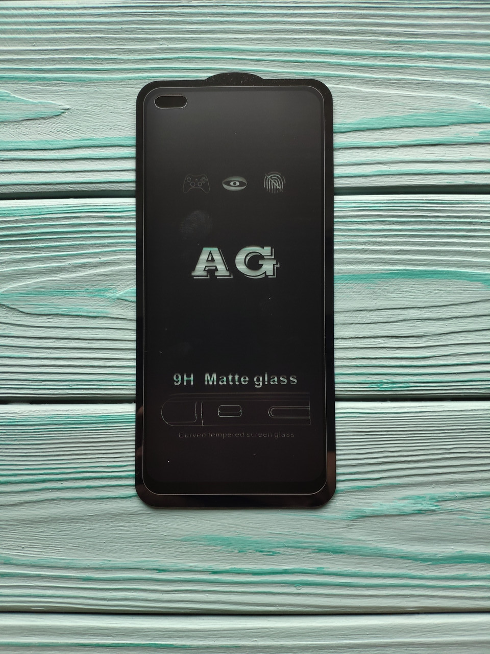 Захисне скло AG Matte Full Glue для Realme 6 Pro / X3 SuperZoom Матове Чорне