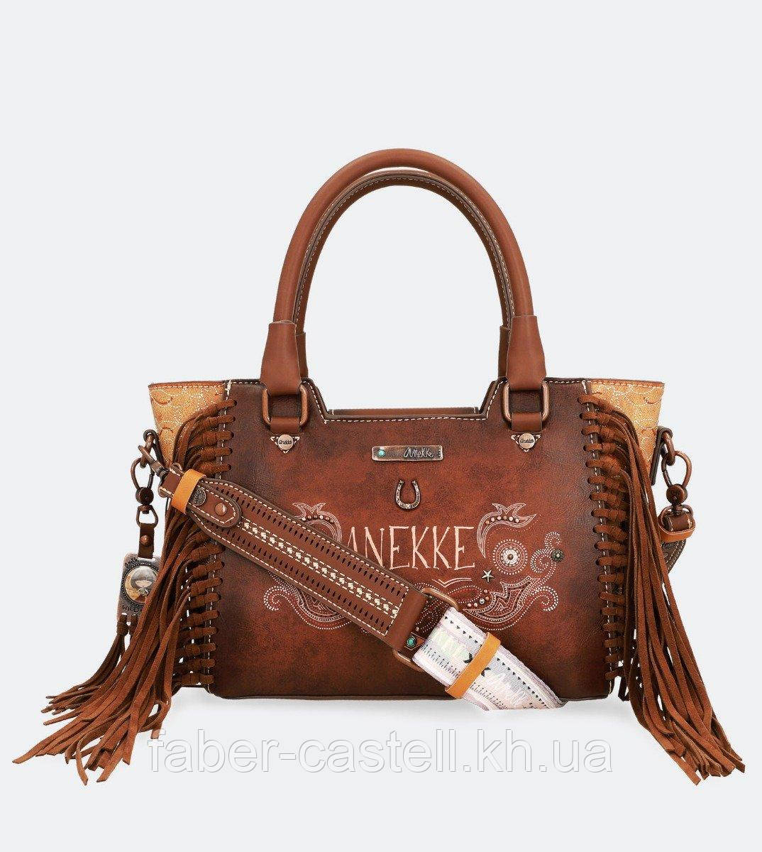 Сумка женская на плечо Anekke Arizona Handbag with brown tassels, 30701-90