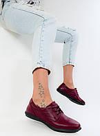 Туфлі жіночі Dinno Vittorio шкіра, гума бордові