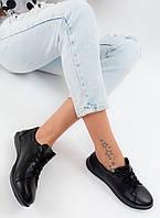 Туфлі жіночі Dinno Vittorio шкіра, гума чорні