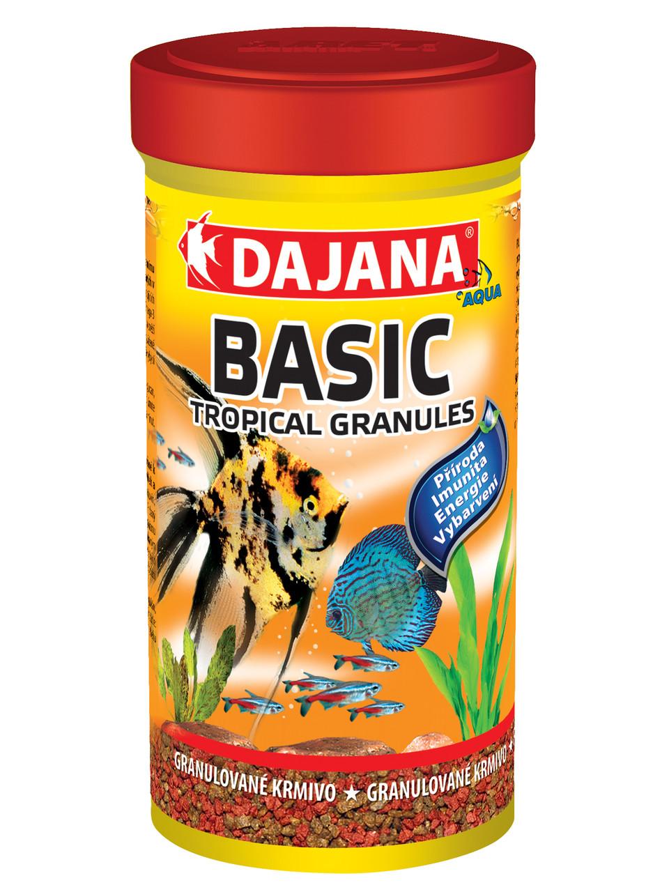 Корм для всех видов тропических аквариумных рыб в гранулах Dajana TROPI GRAN BASIC 10 л/5,2 кг
