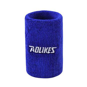 Напульсник для спорта от пота AOLIKES 0235 Blue повязка на руку