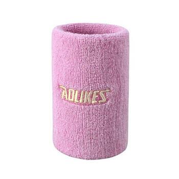 Напульсник для спорта от пота AOLIKES 0235 Pink повязка на руку