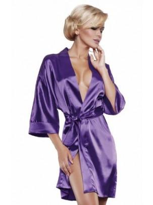 90 сатиновий халат фіолетовий Dkaren