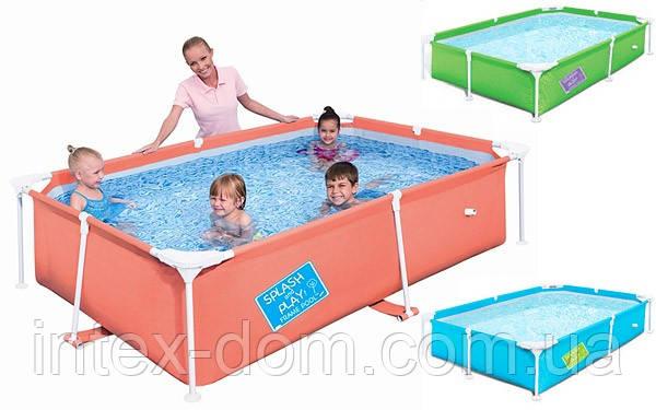 Детский каркасный прямоугольный бассейн (239x150x58см), Bestway 56220 G (Зелёный)