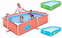Детский каркасный прямоугольный бассейн (239x150x58см), Bestway 56220 O (Оранжевый)