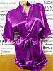 90 сатиновий халат фіолетовий Dkaren, фото 3