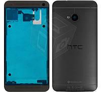 Корпус для HTC One M7 801e, черный, оригинал