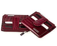 Кожаный картхолдер Karya 0018-503 с отделением для мелочи бордовый