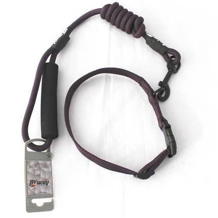 Комплект ошейник с поводком AnimAll для собак, S, темно-фиолетовый, фото 2