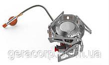 Горелка газовая со шлангом, пьезоподжигом и ветрозащитой Tramp TRG-046, фото 2