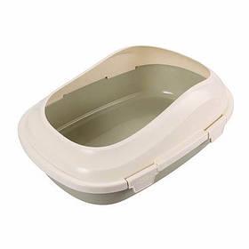 Туалет со ступеньками AnimAll P 1121 для взрослых кошек, голубой