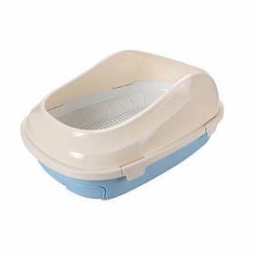 Туалет с сеткой AnimAll P 1061 для взрослых кошек, 56×40×21, голубой