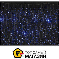 Гирлянда Delux Curtain 456 LED 2x1.5м, синий/белый (10008249)