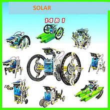 Детский конструктор на солнечной батарее 14 in 1 Educational Solar Robot - конструкторы для мальчиков