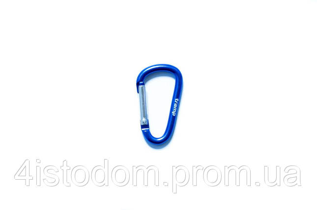 Карабин Tramp алюминиевый, размер 6 см, без муфты, синий арт.TRA-006, фото 2