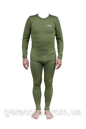 Термобелье мужское Tramp Warm Soft комплект (футболка+кальсоны) TRUM-019 L-XL оливковый, фото 2