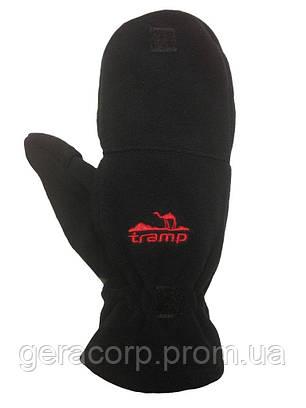 Варежки мужские Tramp Fleece черный L/XL, фото 2