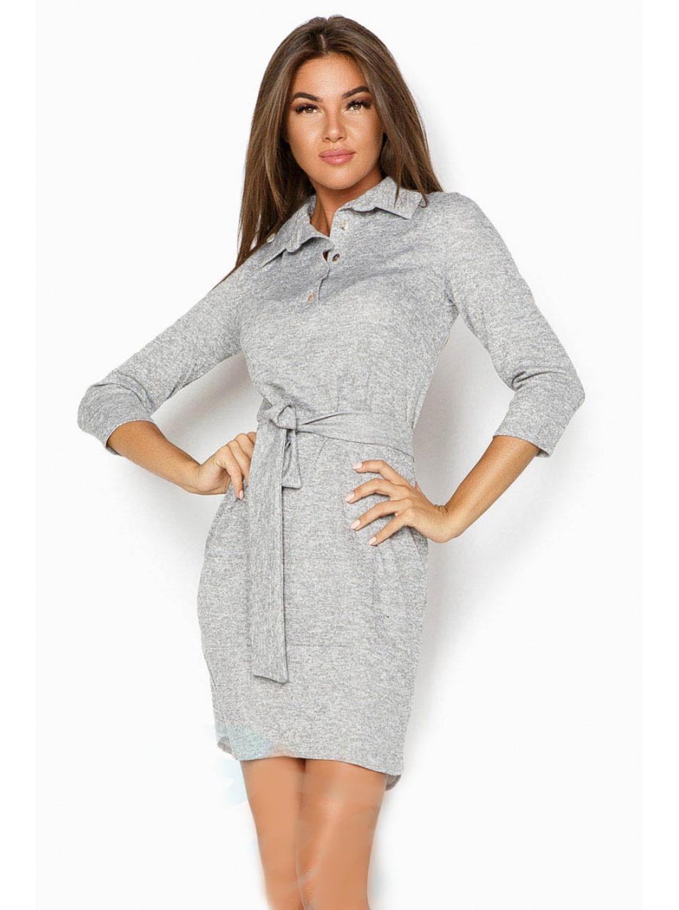 Платье с кокеткой теплое