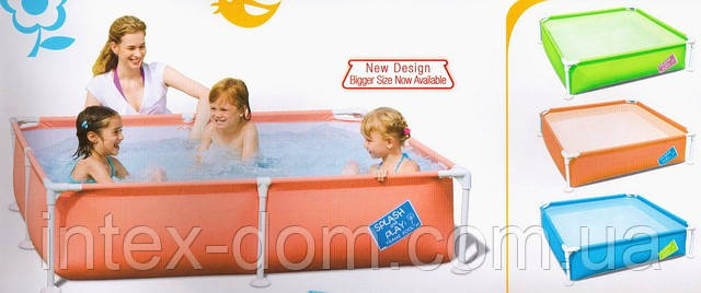 Детский каркасный квадратный бассейн (122х122х30,5см), Bestway 56217G (Зеленый)