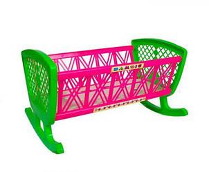 Кроватка в сетке (зеленая) 006