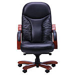 Кресло Буффало НB коньяк Кожа Люкс комбинированная, черный, фото 2