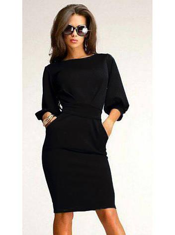 Платье фонарик черное, фото 2