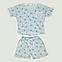 Пижама майка и шорты женские (светло-голубая), фото 8