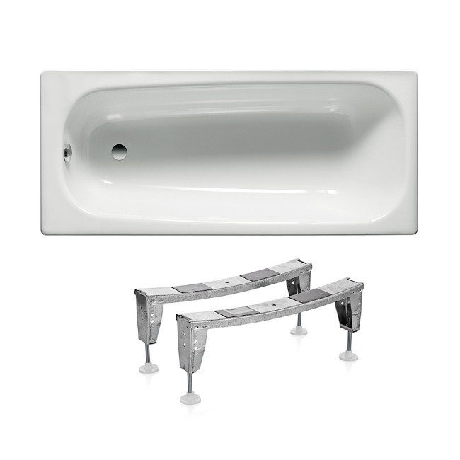 Скидка есть! Звоните. Roca CONTESA ванна 160*70 см прямоугольная, с ножками, A235960000+A291021000