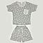 Костюм шорты и футболка женские (светло-серая), фото 7