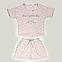 Костюм женский шорты и футболка (светло-розовая), фото 7