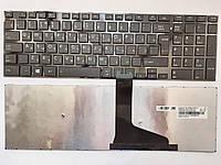 Клавиатура для ноутбуков Toshiba Satellite L50, S50 черная с черной рамкой RU/US