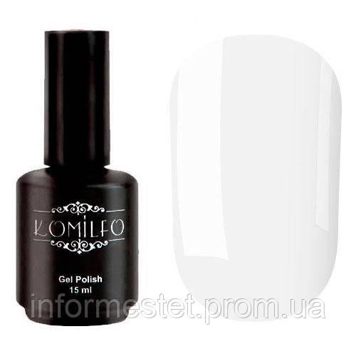 Гель-лак Komilfo French Collection F010 (яркий белый, очень плотный, для улыбки), 15 мл