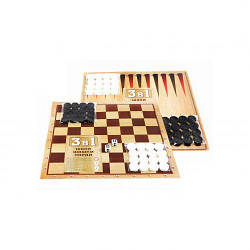 Шахматы набор (3 в 1) (шахматы, шашки, нарды) S0011