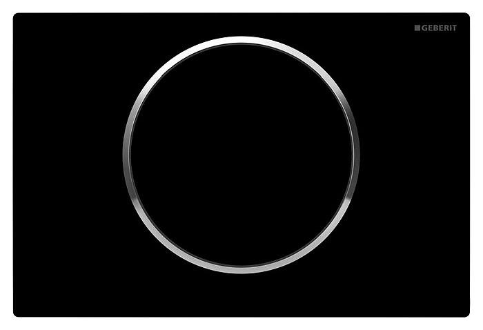 Нужно дешевле? Звоните. SIGMA10 смывная клавиша, пластик черный/хром глянц./черный